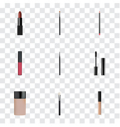 Realistic mouth pen cosmetic stick concealer and vector