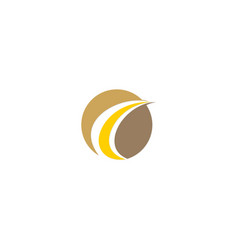 round loop business company logo vector image