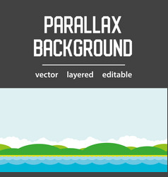 sea parallax background layered vector image