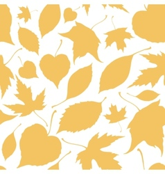 Seamless pattern with falling leaves vector image