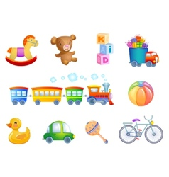 Set 10 toys for kid vector