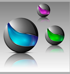 set of futuristic orbs vector image