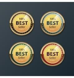 Set of Top Quality Guarantee Golden labels vector image
