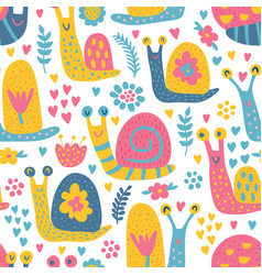 snails pattern vector image