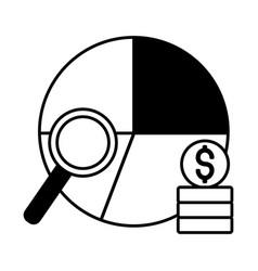 stock market chart money analysis vector image
