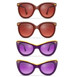 Sunglasses for women in plastic frames stock vector