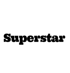 Superstar stamp on white vector