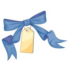 tag and ribbon vector image