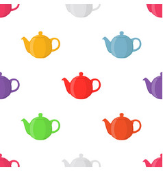 Teapots seamless pattern vector