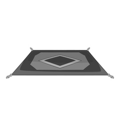 Turkish carpet icon gray monochrome style vector image