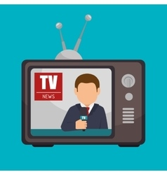 tv news anchorman broadcast graphic vector image