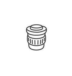 urban and city element icon - paper cup coffee vector image