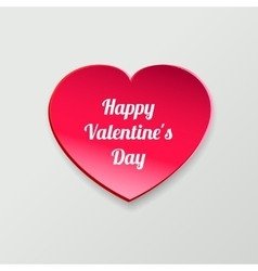 valentines day card paper heart vector image