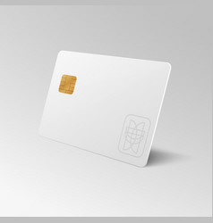 white blank shopping credit card isolated 3d vector image