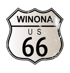 Winona route 66 vector