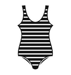 Woman striped swimwear icon simple style vector