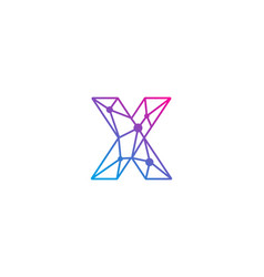 X letter network logo icon design vector