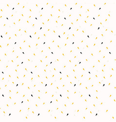 Yellow gold ditsy confetti drops trendy print vector