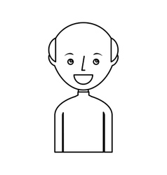 Young man bald avatar character vector