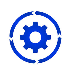 gear turn icon vector image