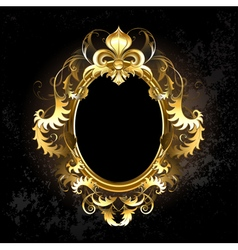 Oval Gold Frame vector image vector image