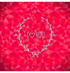 Valentine crystal love vector image vector image