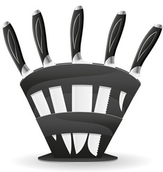 knife set for the kitchen 03 vector image vector image