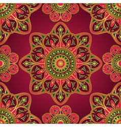 Ornament on a burgundy background vector image vector image