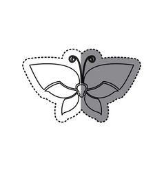 sticker shading silhouette simple butterfly insect vector image