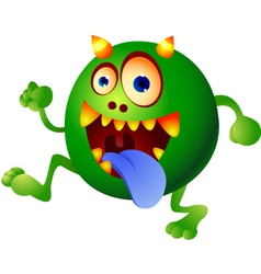 germ monster vector image vector image