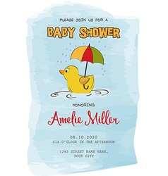 Lovely baby shower card vector image vector image