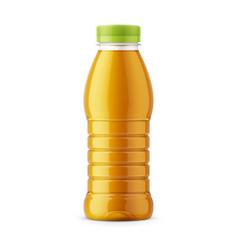 orange juice bottle template vector image vector image