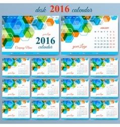 template desk calendar 2016 years Week vector image