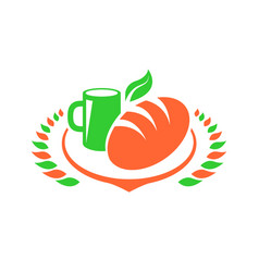 breakfast foods clip art set vector image