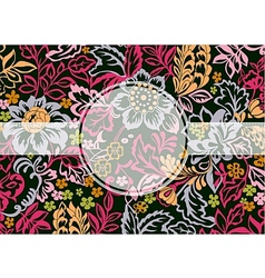 Floral ornament with copy space vector image