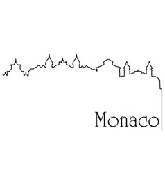 monaco city one line drawing background vector image