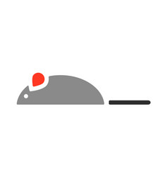 mouse a toy for cat flat color icon vector image vector image