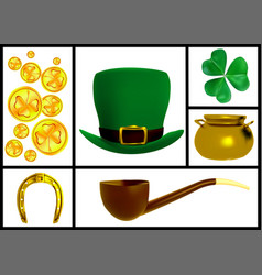 set of images for the patricks day vector image vector image