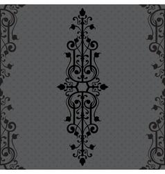 Vintage background ornament black frame vector image vector image
