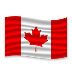 3d waving flag vector image