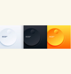 abstract minimal circles background in three vector image
