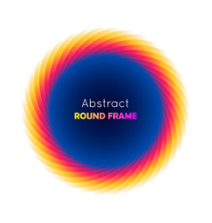 Abstract round frame gradient vector