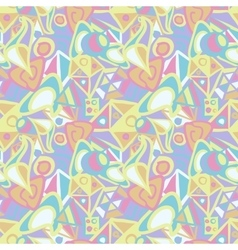 Abstract seamless pattern in pastel colors vector