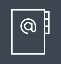 address book thin line icon vector image