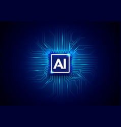 ai artificial intelligence cyber background vector image