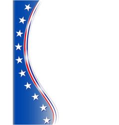 American abstract flag symbol corner frame vector