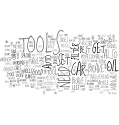 auto tools for the diy er text word cloud concept vector image