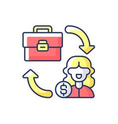 B2c marketing rgb color icon vector