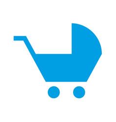 baby pram accessory pictogram style vector image