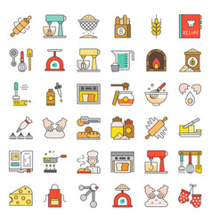 Bakery and pastry shop related flat design icon vector